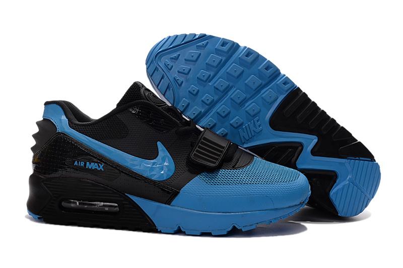 new concept 29dd2 5fb45 ... low cost air max chaussureair max 90 yeezy bleu et noir homme 7835b  30bc3